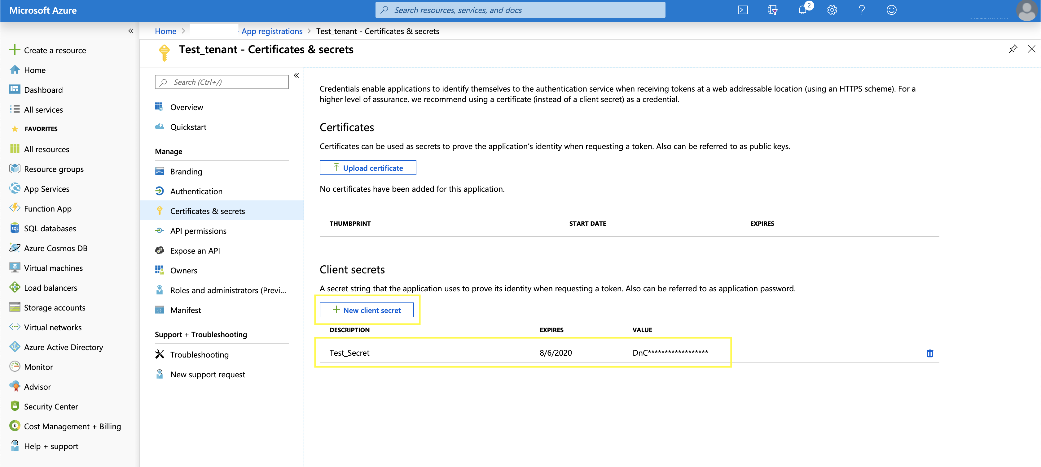 Deploying Azure Function with Azure Active Directory