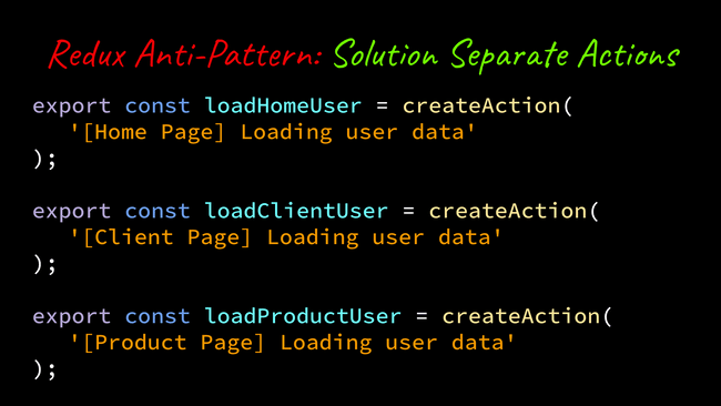 separated actions code example.